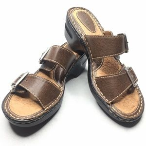 B.O.C. Born Concepts 2 Strap Sandals Buckles Adjus